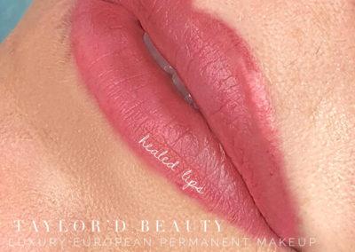HEALED lip enhancement tattoo