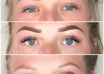 Top photo: Healed Brows, before Touch Up
